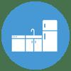 Bar with fridge, dishwasher, & ice maker